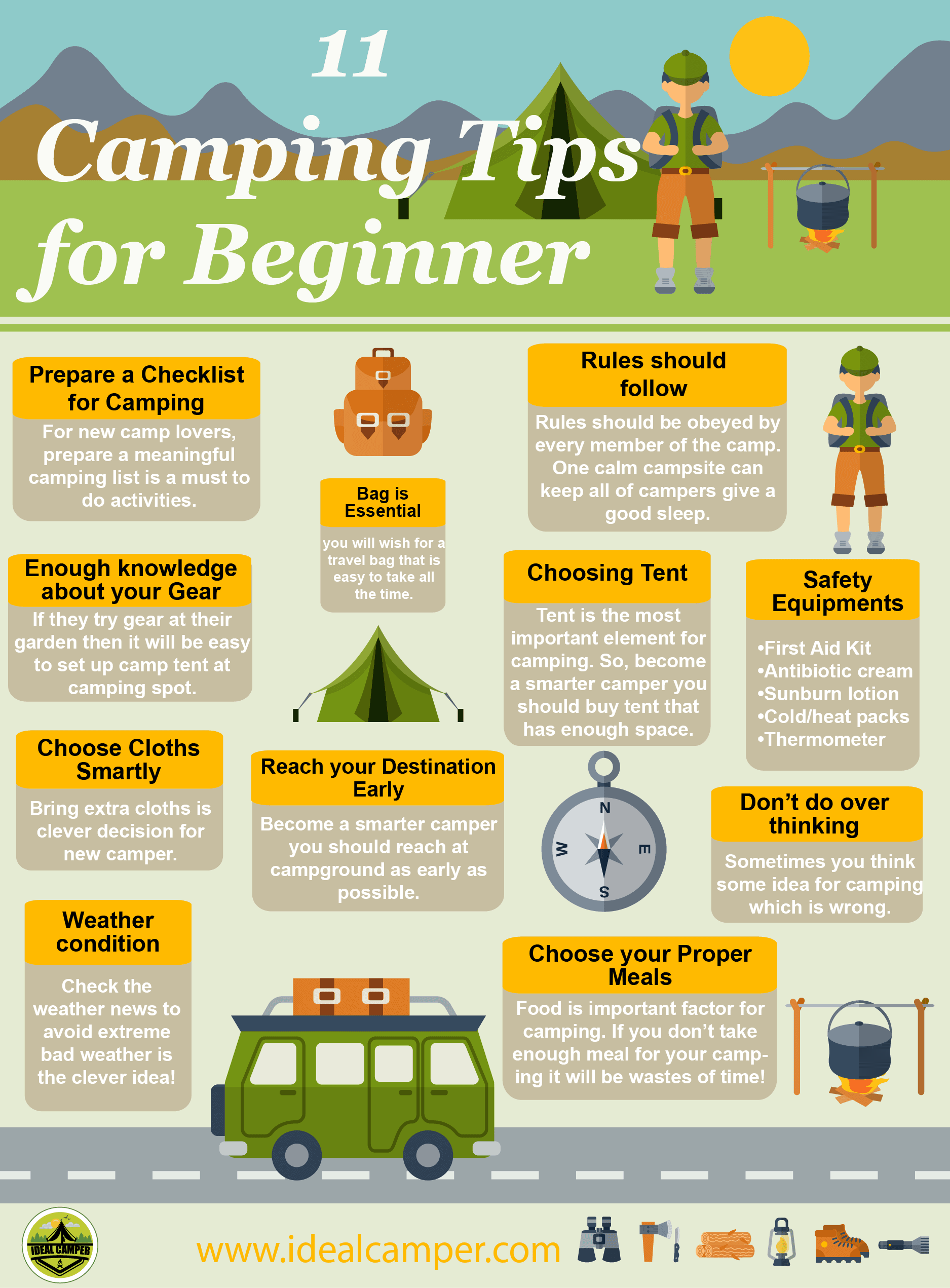 Best camping tips for beginner