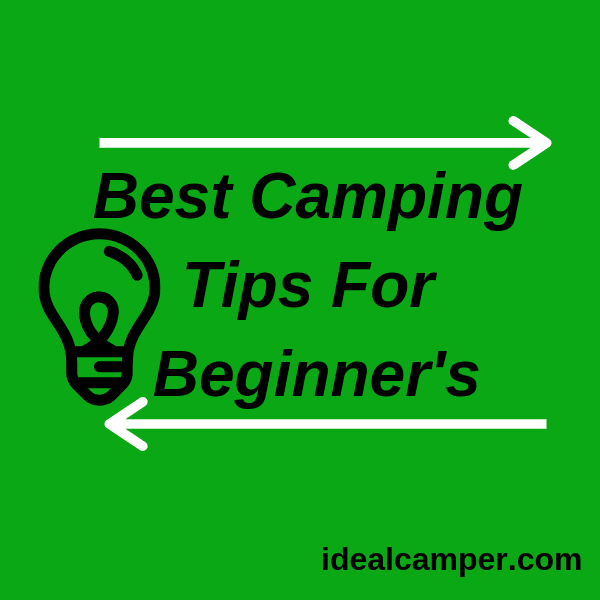 Best Camping Tips for newbie