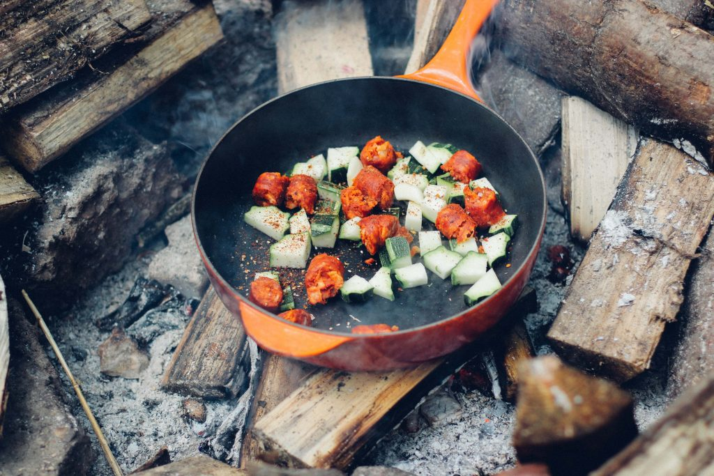 how to cook while camping