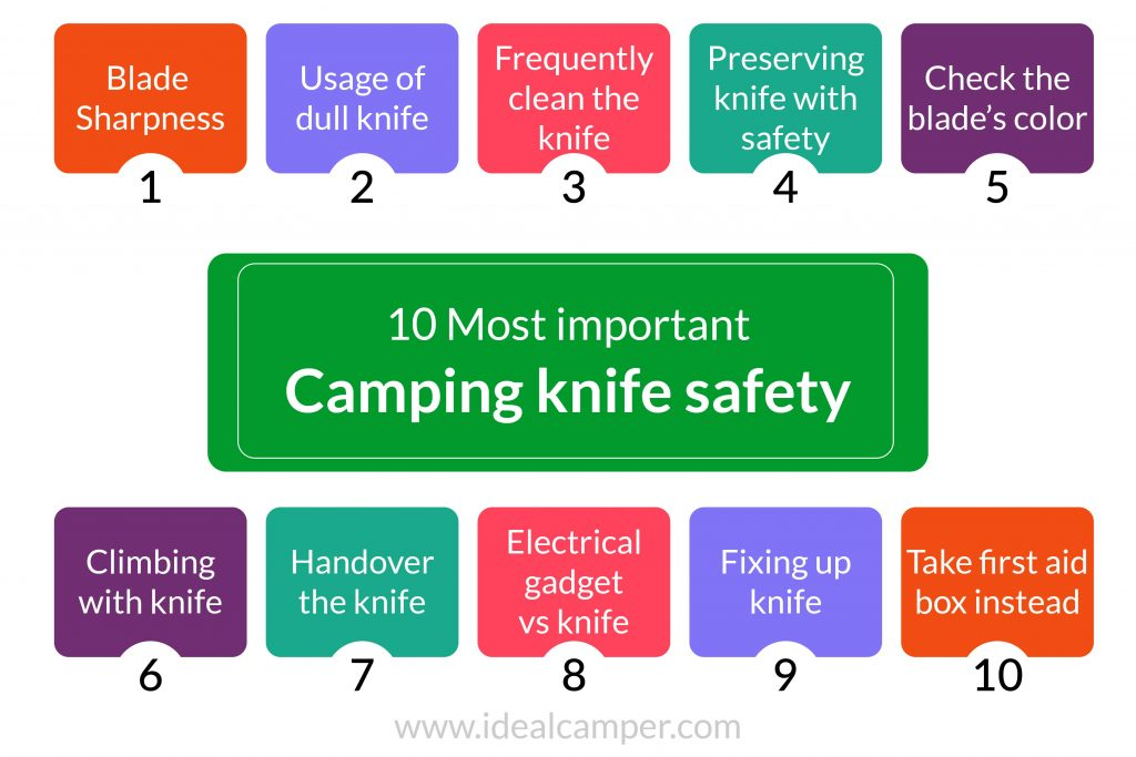 10 most important camping knife safety infographic