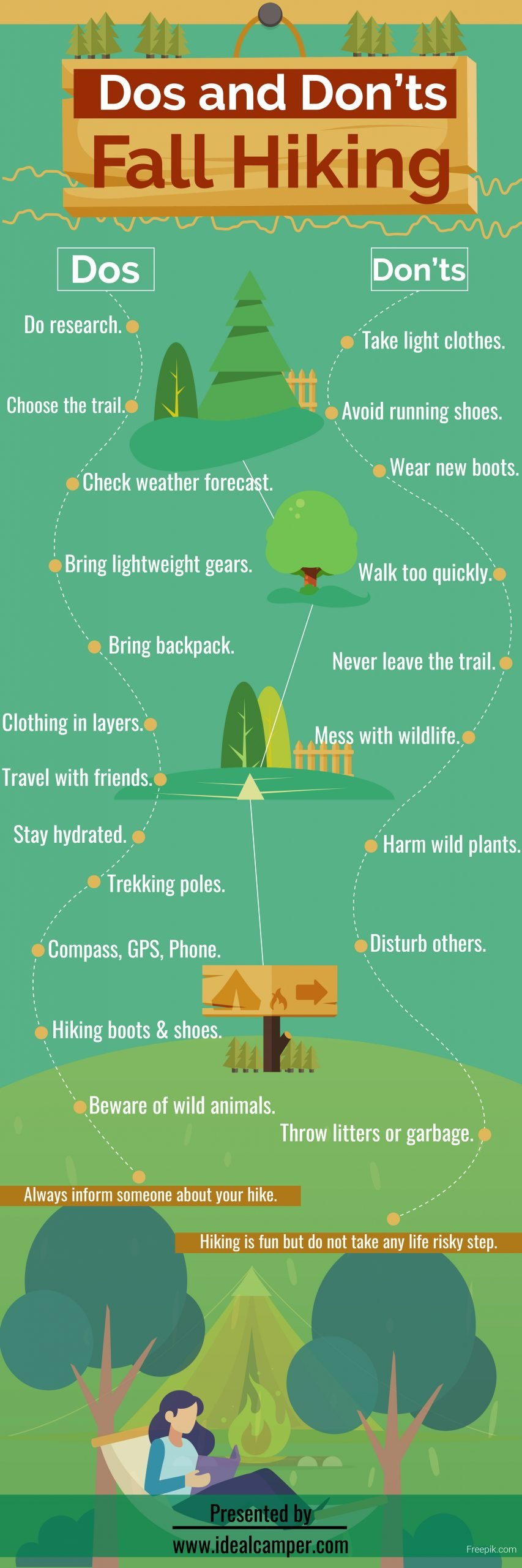 Dos and donts of fall hiking